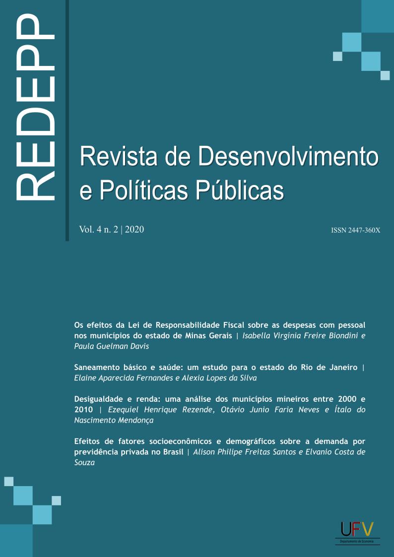 Visualizar v. 4 n. 2 (2020): Revista de Desenvolvimento e Políticas Públicas [ISSN: 2447-360X]